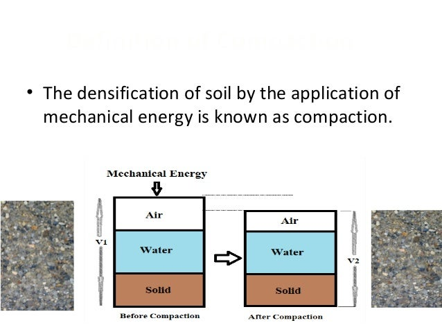 Compaction equipment for Soil resources definition