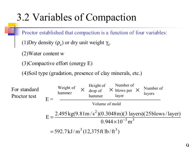 Compaction and its effects on soil for Soil 95 compaction