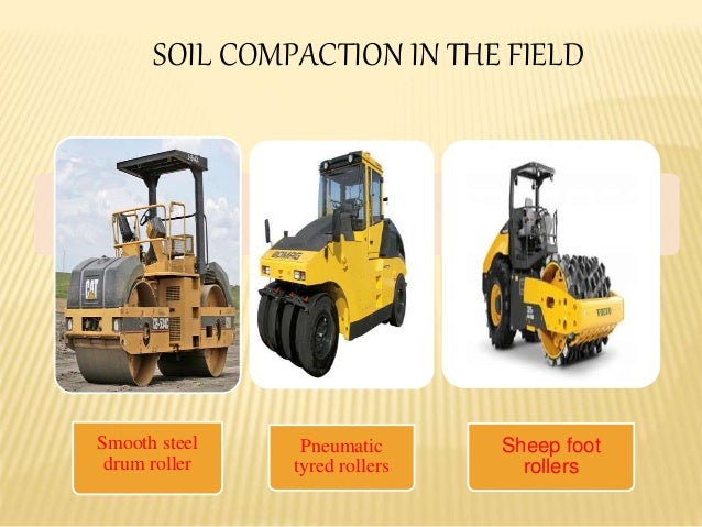 Compaction characteristics of soil for Soil 95 compaction