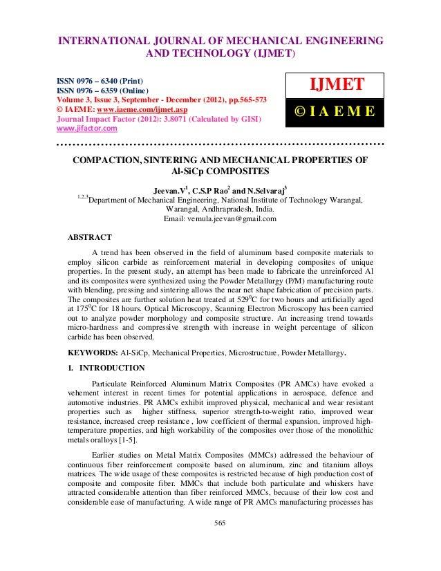 International Journal of Mechanical Engineering and Technology (IJMET), ISSN 0976 –INTERNATIONAL JOURNAL OF MECHANICAL ENG...