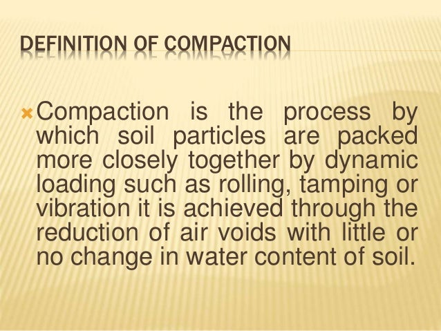 Compaction tests for Soil particles definition