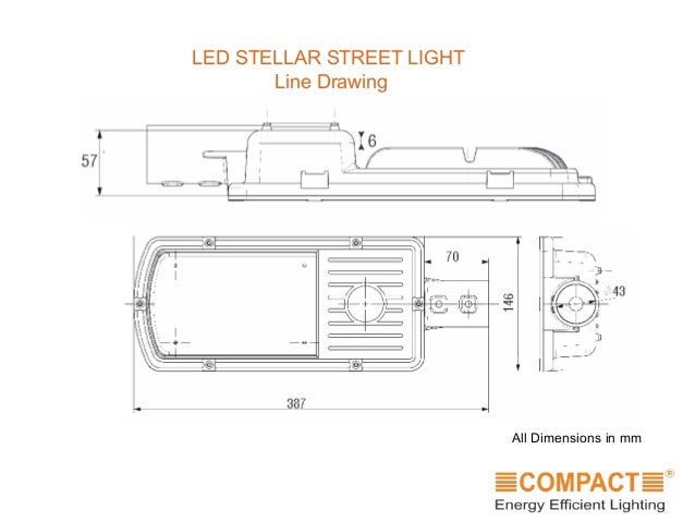 LED STELLAR STREET LIGHT Line Drawing All Dimensions in mm ...  sc 1 st  SlideShare & Compact Street Lights - 25W LED STELLAR STREET LIGHT Specifications