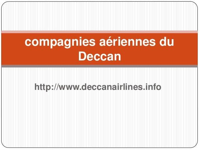 http://www.deccanairlines.info compagnies aériennes du Deccan