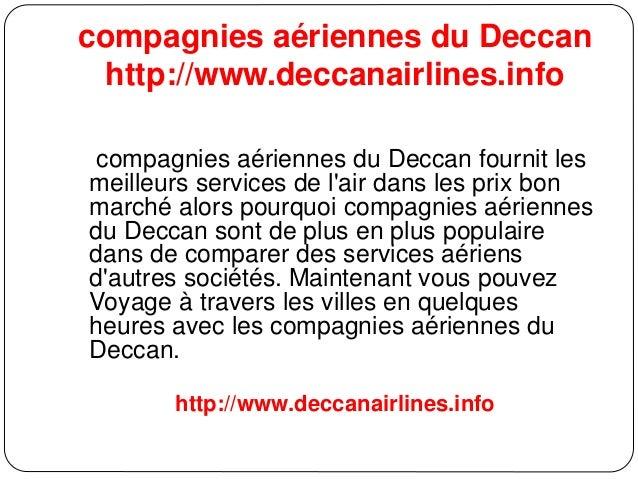 compagnies aériennes du Deccan http://www.deccanairlines.info compagnies aériennes du Deccan fournit les meilleurs service...