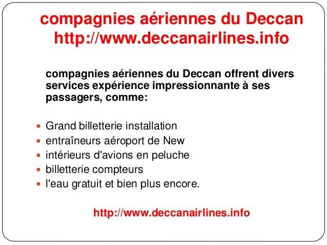 compagnies aériennes du Deccan http://www.deccanairlines.info compagnies aériennes du Deccan offrent divers services expér...