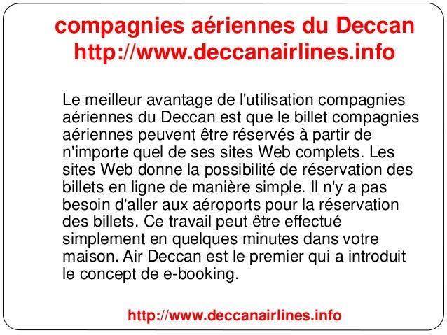compagnies aériennes du Deccan http://www.deccanairlines.info Le meilleur avantage de l'utilisation compagnies aériennes d...