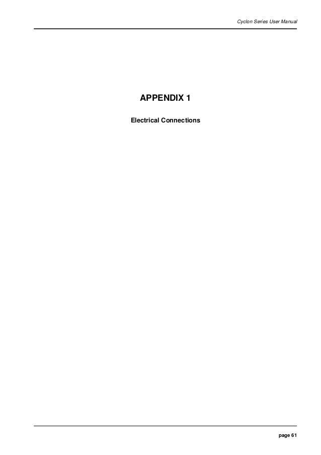 61  page 61 cyclon series user manual