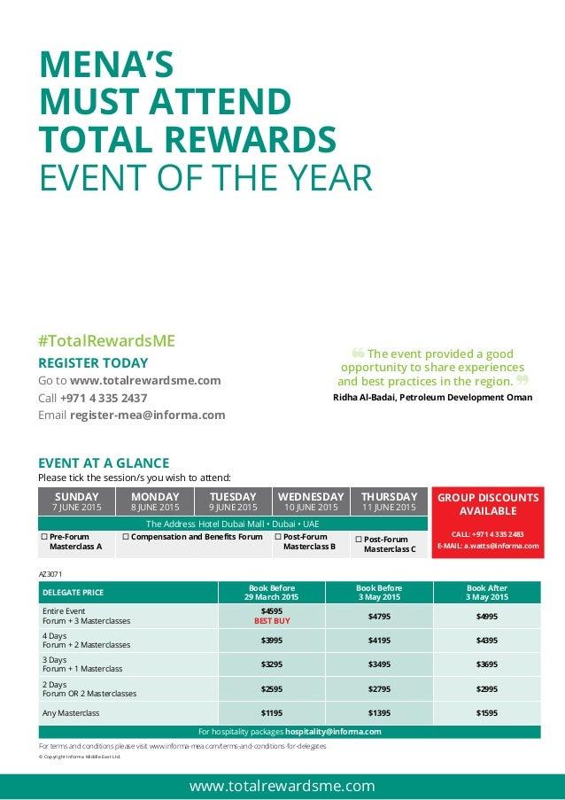 Compensation and benefits forum 2015 Brochure