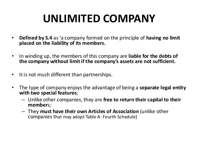 Companies (Limited By Share, Guarantee, etc.)