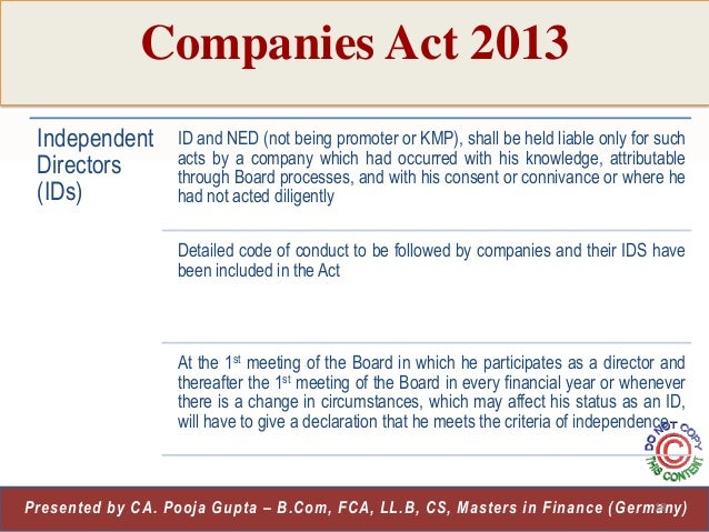 Section 189 of Companies Act, 2013