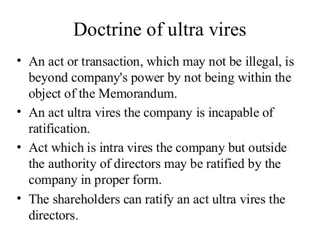what is doctrine of ultra vires