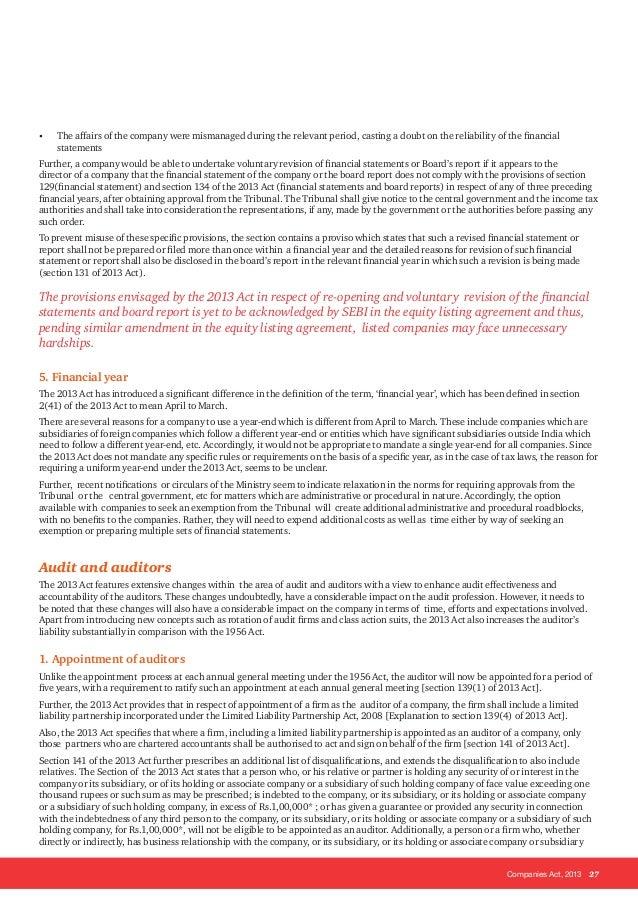 Companies Act 2013 Key Highlights And Analysis