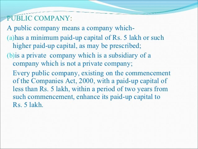 ON THE BASIS OF OWNERSHIPGovernment company -   A government company means any company in which not less   than 51% of the...