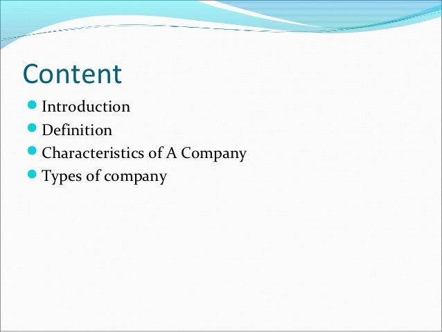 introduction to company law ppt