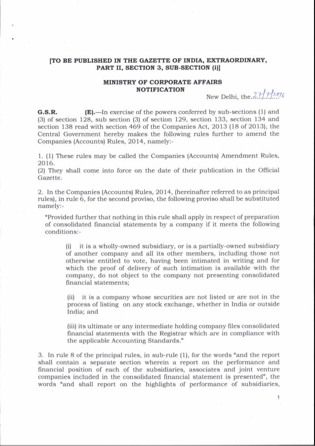 ITO BE PUBLISHED IN THE GAZETTI OF INDIA, EXTRAORI'INARY, PART II, SECTION 3, SUB-SECTION (rll MINISTRY OF CORPORATE AFFAI...
