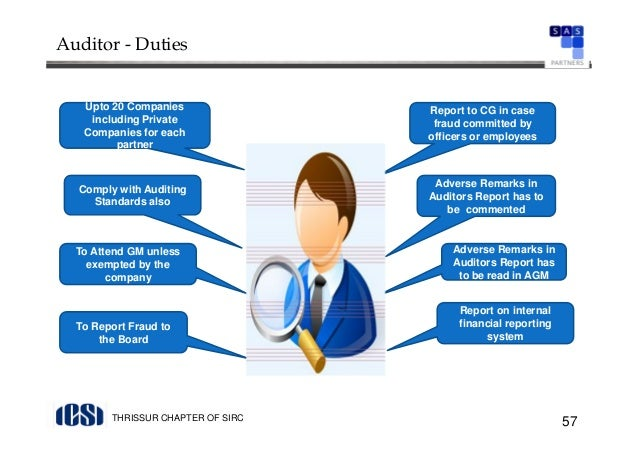 the role of auditors in public companies External auditors are responsible to the owners of the company which could be anybody from its owners to the shareholders to the government or general public internal auditors are responsible solely to the company's senior management.