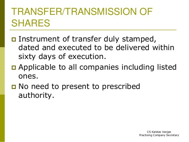 transfer and transmission