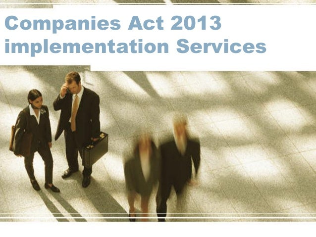 Companies Act 2013 implementation Services