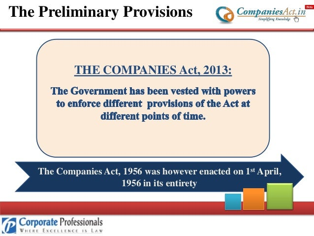 companies act Key aspects of the act (which is meant to reduce costs and red tape) will certainly  affect your business for a start companies can be formed by one person (no.