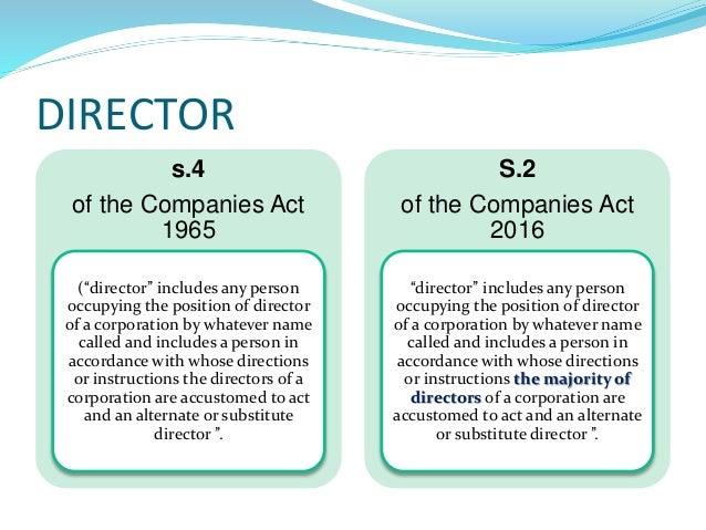 The Malaysian Companies Act 2016