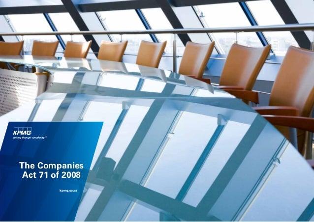 The Companies Act 71 of 2008         kpmg.co.za