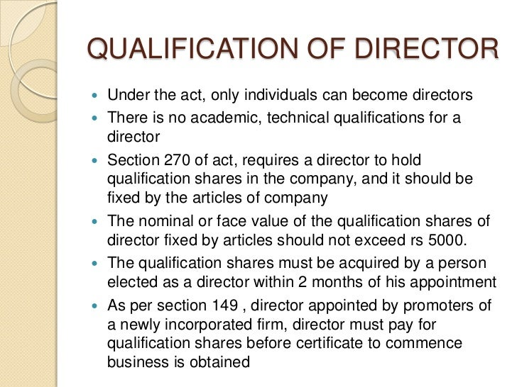 what are qualifications