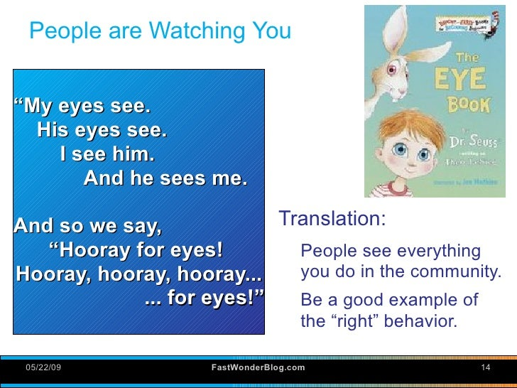 People Are Watching You My