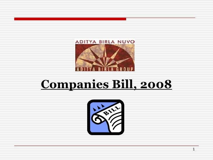 Companies Bill, 2008