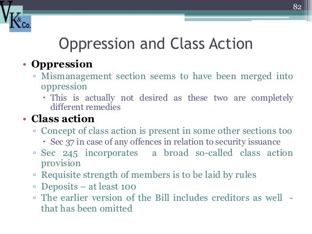 Prevention Of Oppression And Mismanagement Of A Company