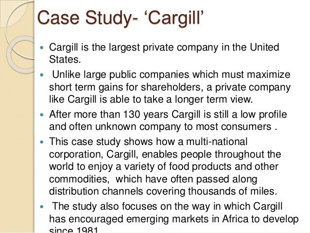 Building a Best-in-Class Finance Function: Cargill Inc ...