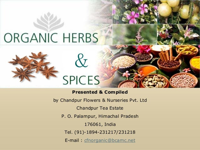 &        Presented & Compiledby Chandpur Flowers & Nurseries Pvt. Ltd         Chandpur Tea Estate   P. O. Palampur, Himach...