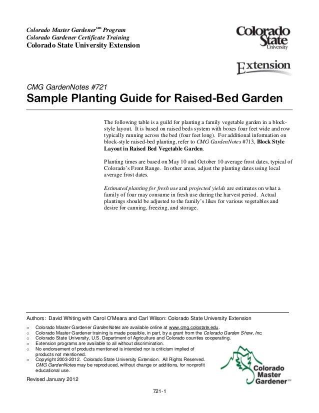 Colorado Master Gardenersm ProgramColorado Gardener Certificate TrainingColorado State University ExtensionCMG GardenNotes...