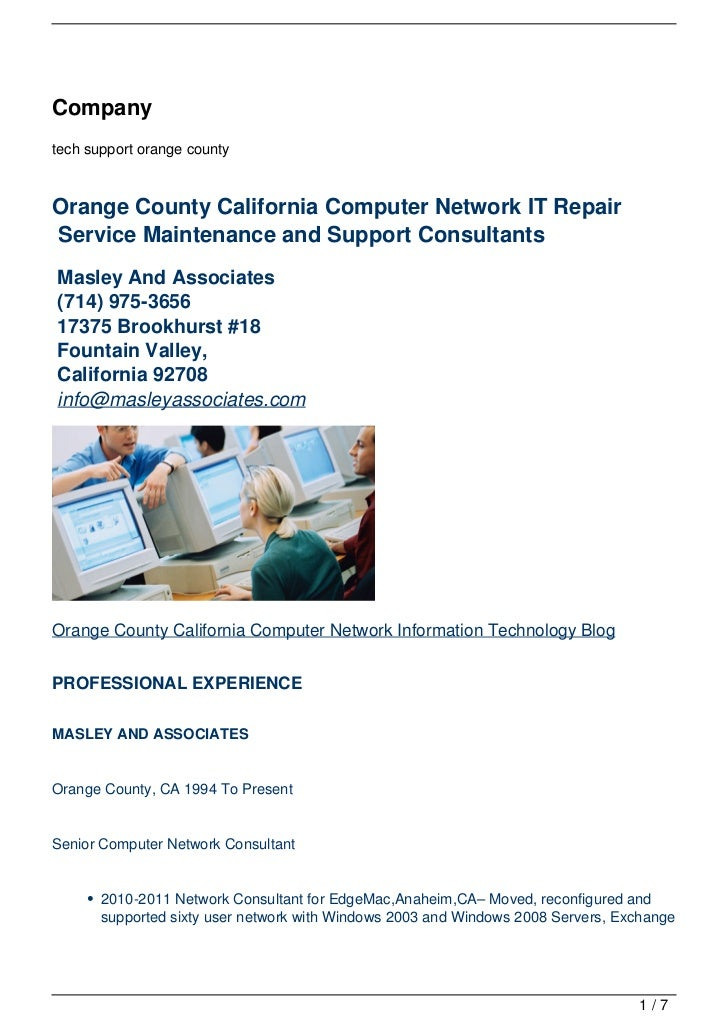 Companytech support orange countyOrange County California Computer Network IT RepairService Maintenance and Support Consul...