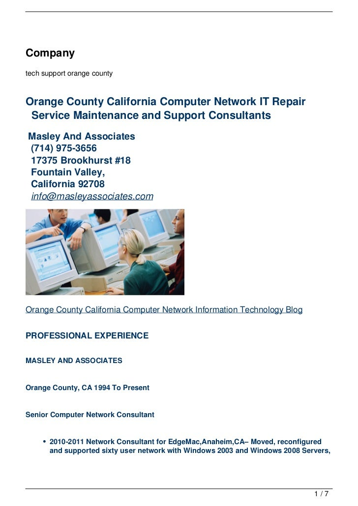 Companytech support orange countyOrange County California Computer Network IT Repair Service Maintenance and Support Consu...