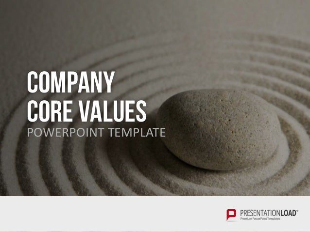COMPANY CORE VALUESPOWERPOINT TEMPLATE