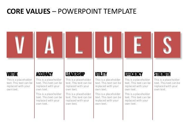 Company core-values - english templates