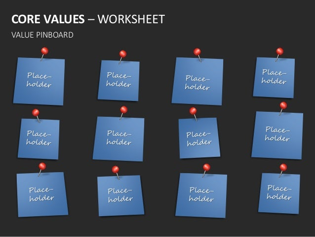 Company corevalues english templates – Core Values Worksheet