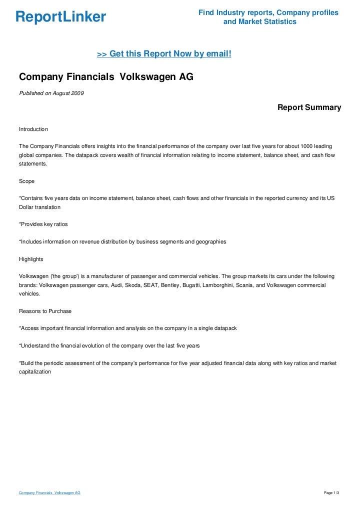 volkswagen financial performance