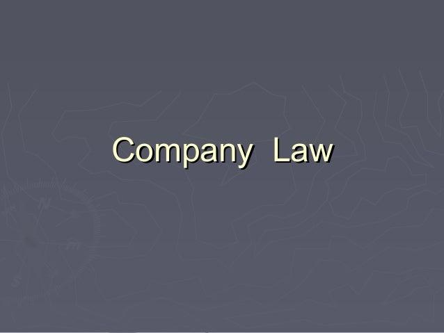 Company LawCompany Law