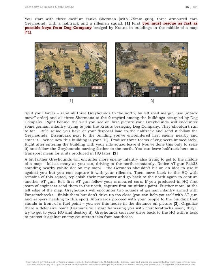 Company Of Heroes Game Guide Gamepressure Com