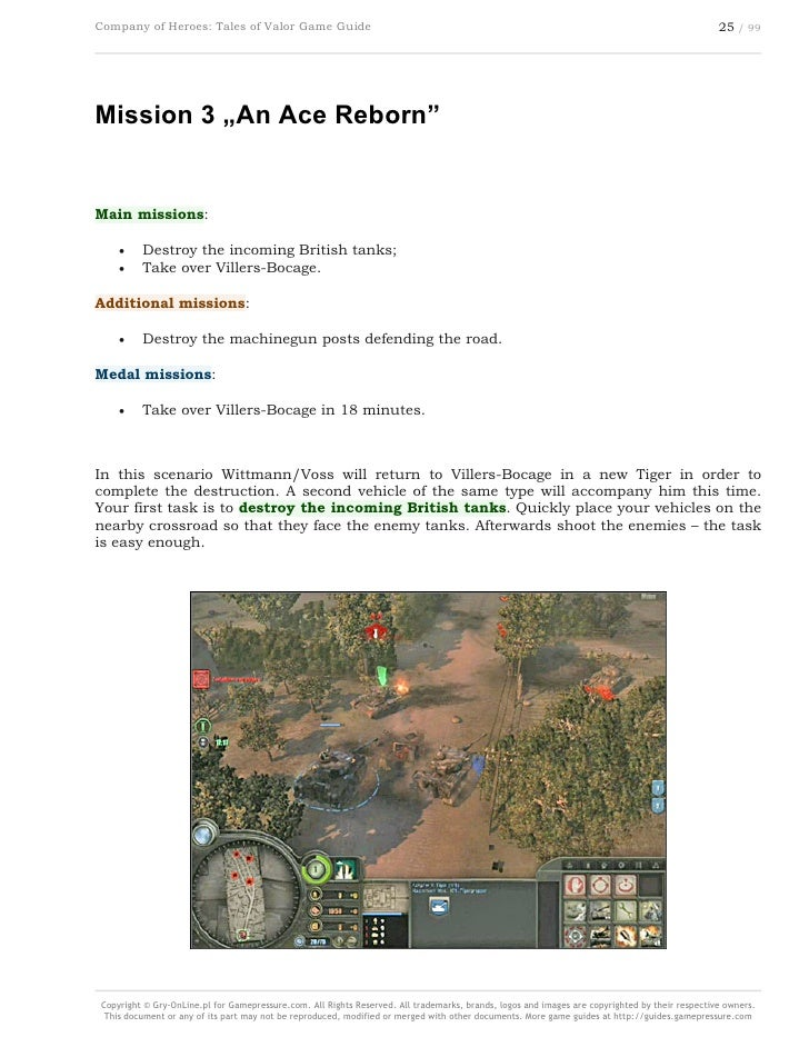 Company Of Heroes Tales Of Valor Game Guide Gamepressure Com