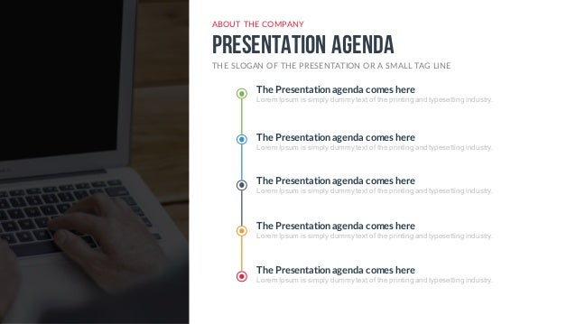 Ppt Agenda Template. company profile free powerpoint template ...