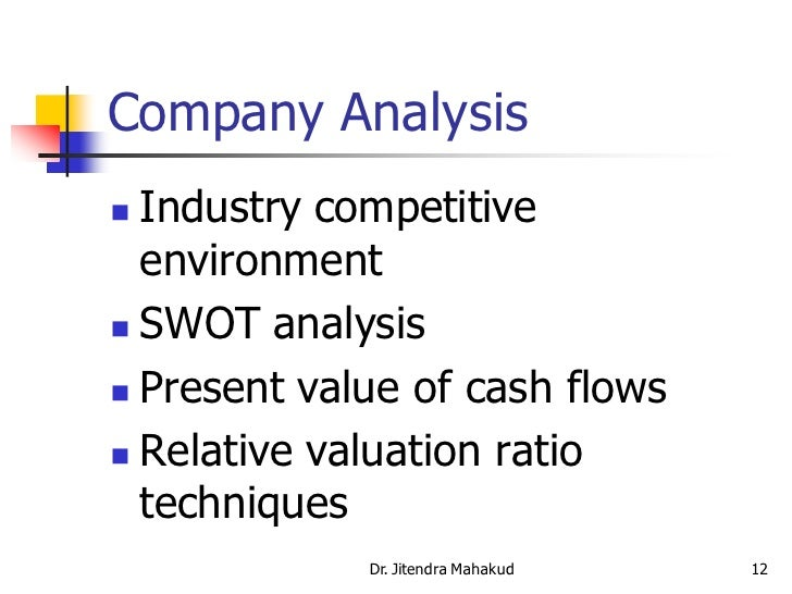 Company Analysis ...