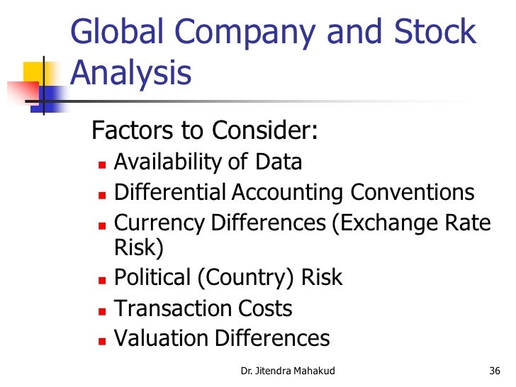 ... 36. Global Company And Stock Analysis ...