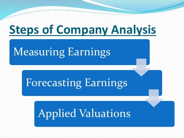 Great ... 2. Steps Of Company Analysis ...