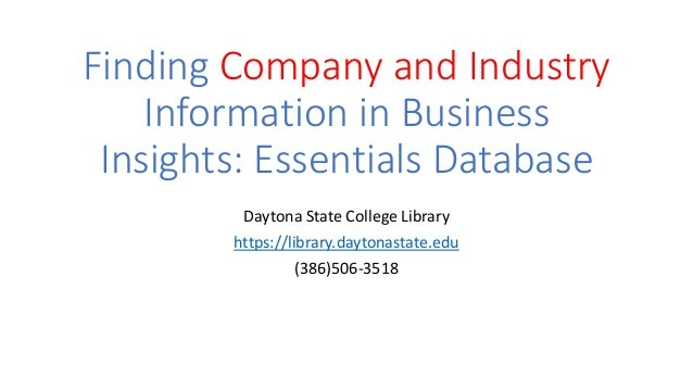 Company insights