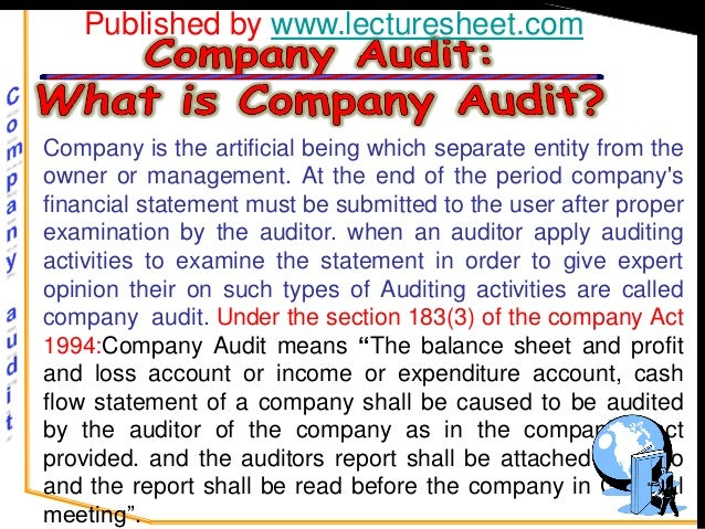 Published by www.lecturesheet.comCompany is the artificial being which separate entity from theowner or management. At the...