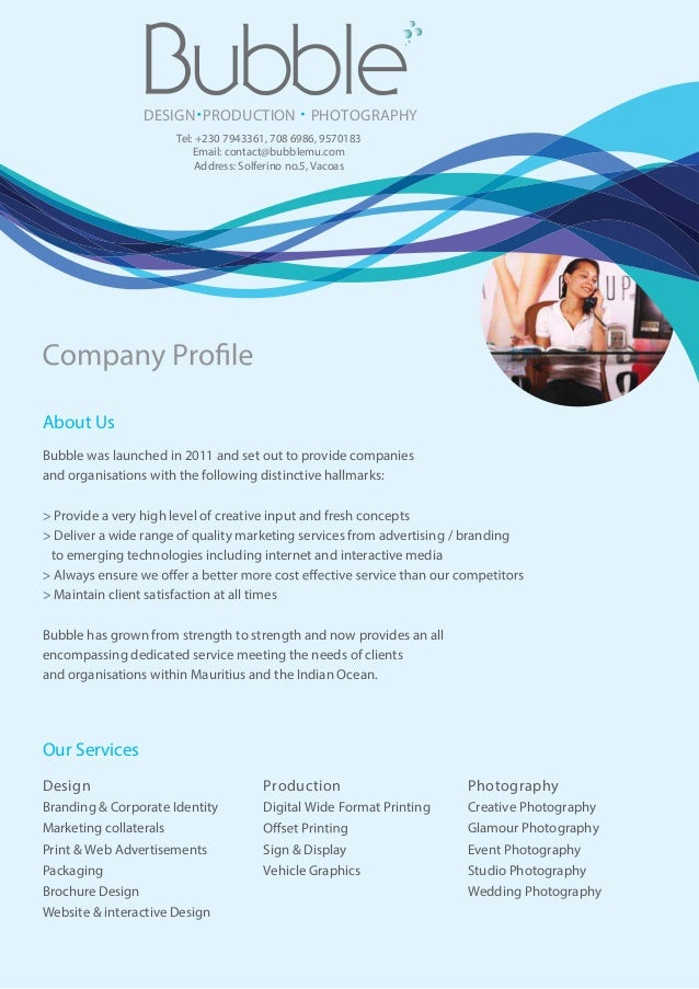 About UsOur ServicesBubble was launched in 2011 and set out to provide companiesand organisations with the following disti...