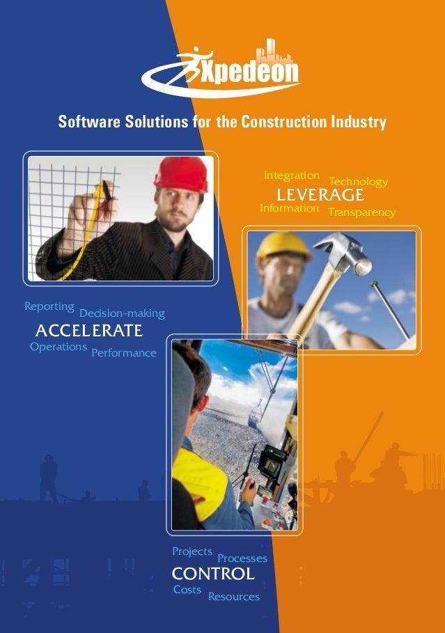 Software Solutions for the Construction IndustryReportingDecision-makingOperationsPerformanceACCELERATETransparencyIntegra...