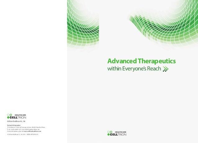 Celltrion Healthcare Company Brochure(2016)